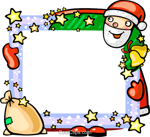 Christmas themed frame Royalty Free Vector Clip Art illustration vc112284