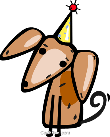 Birthday dog Royalty Free Vector Clip Art illustration vc112313