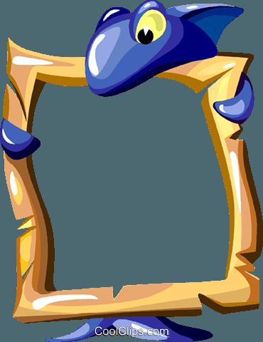 Cartoon shark frame Royalty Free Vector Clip Art illustration ...