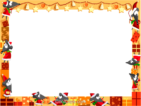 Christmas themed frame Royalty Free Vector Clip Art illustration vc112329