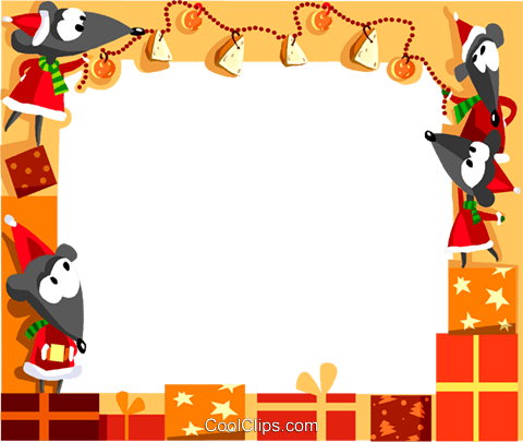 Christmas themed frame Royalty Free Vector Clip Art illustration vc112332
