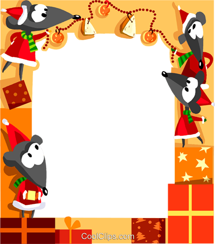 Christmas themed frame Royalty Free Vector Clip Art illustration vc112333