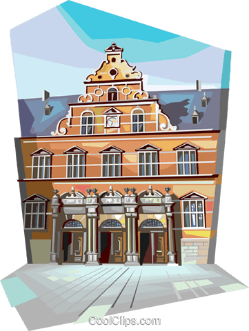 Helsingor Station, Denmark Royalty Free Vector Clip Art illustration vc112339