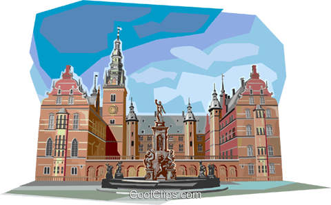 Lectures University, Copenhagen Royalty Free Vector Clip Art illustration vc112343