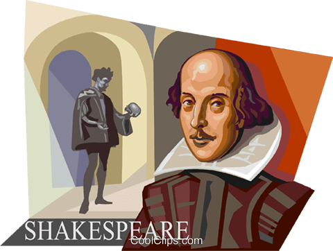 William Shakespeare Royalty Free Vector Clip Art illustration vc112349
