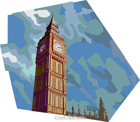Big Ben, United Kingdom Royalty Free Vector Clip Art illustration vc112351