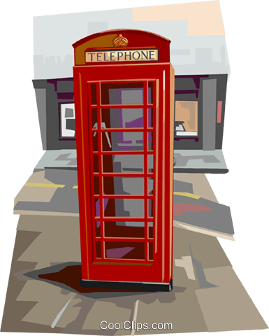 Phone Booth Royalty Free Vector Clip Art illustration vc112352