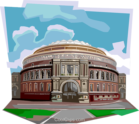 Royal Albert Hall, United Kingdom Royalty Free Vector Clip Art illustration vc112354