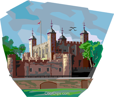 Tower of London Royalty Free Vector Clip Art illustration vc112356