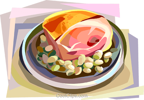 Danish home bacon Royalty Free Vector Clip Art illustration vc112364
