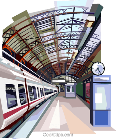 Copenhagen Station, Denmark Royalty Free Vector Clip Art illustration vc112365