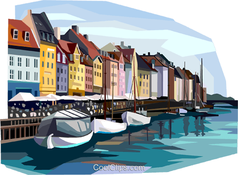 Copenhagen, Denmark Royalty Free Vector Clip Art illustration vc112367