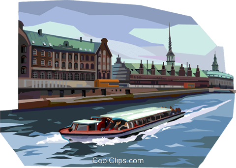 Tourist boat Royalty Free Vector Clip Art illustration vc112370