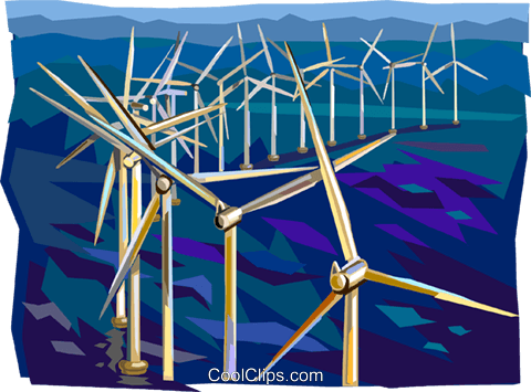 Wind power Royalty Free Vector Clip Art illustration vc112393