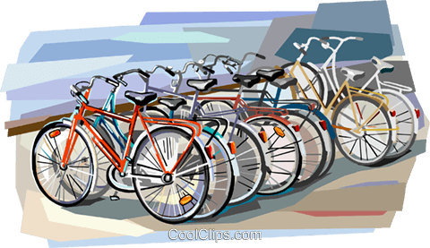 Bicycles Royalty Free Vector Clip Art illustration vc112396