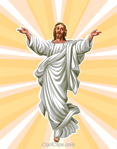 Jesus Royalty Free Vector Clip Art illustration vc112907