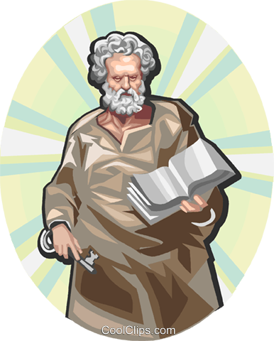 Saint Peter Royalty Free Vector Clip Art illustration vc112911