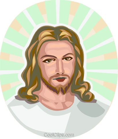 Jesus Royalty Free Vector Clip Art illustration vc112919
