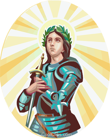 Saint Joan of Arc Royalty Free Vector Clip Art illustration vc112928