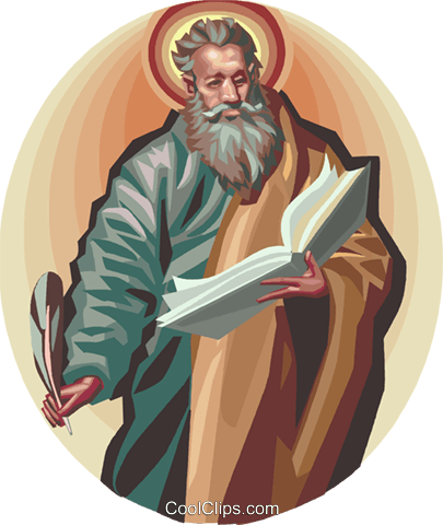 Saint Matthew Royalty Free Vector Clip Art illustration vc112931