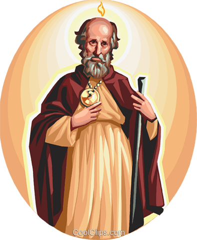 Saint Jude Thaddaeus Royalty Free Vector Clip Art illustration vc112937