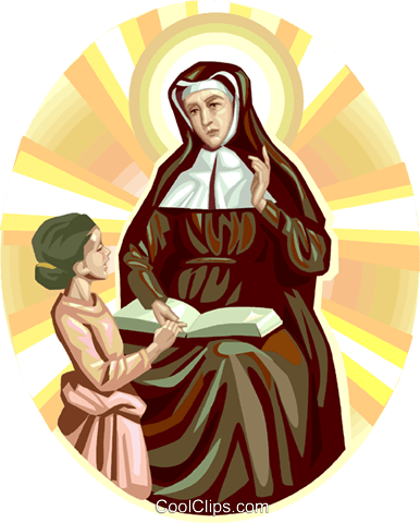Saint Angela Merici Royalty Free Vector Clip Art illustration vc113263