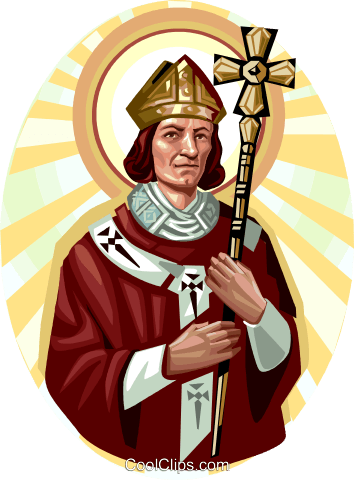 Saint Thomas Becket Royalty Free Vector Clip Art illustration vc113265