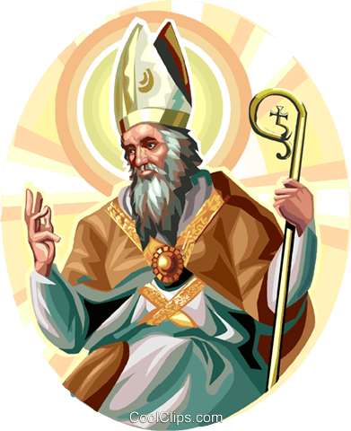 Saint  Ambrose Royalty Free Vector Clip Art illustration vc113268