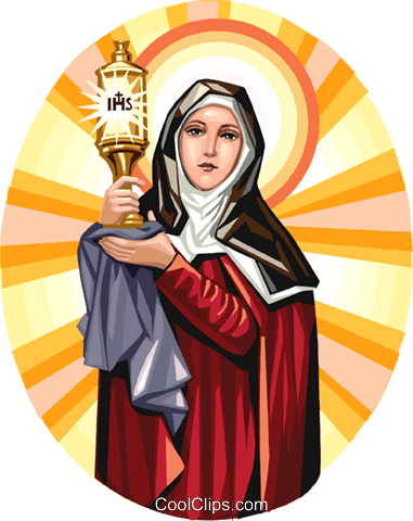 Saint Claire Royalty Free Vector Clip Art illustration vc113274