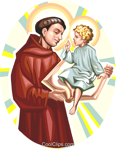 Saint Anthony of Padua Royalty Free Vector Clip Art illustration vc113275
