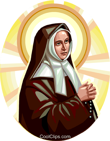 Saint Bernadette Royalty Free Vector Clip Art illustration vc113276