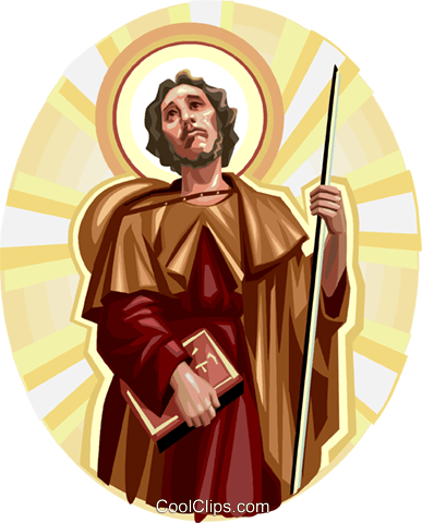 Saint James the Great Royalty Free Vector Clip Art illustration vc113278