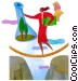woman walking a tightrope Fine Art picture