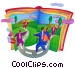 business people on the move Fine Art graphic