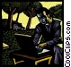 man at notebook computer Fine Art picture