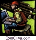 forestry worker with a Fine Art graphic