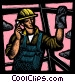 man working Fine Art graphic