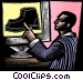 man pointing at a shoe Fine Art graphic