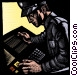 policeman receiving a message Fine Art graphic