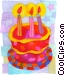 Birthday Cakes Fine Art illustration