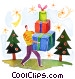 Christmas Scenes Fine Art illustration