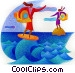 Surfing Fine Art illustration