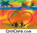 Beach Scenes Fine Art illustration
