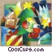Christmas Trees Stock Art image