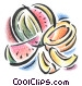 watermelon and honey dew melon Fine Art illustration
