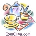 teapot and teacup Fine Art illustration