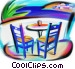 table with chairs Stock Art image