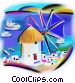 Greece windmill Fine Art graphic