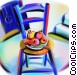 chair with fruit Stock Art image