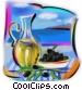 Greek olives and olive oil Fine Art illustration
